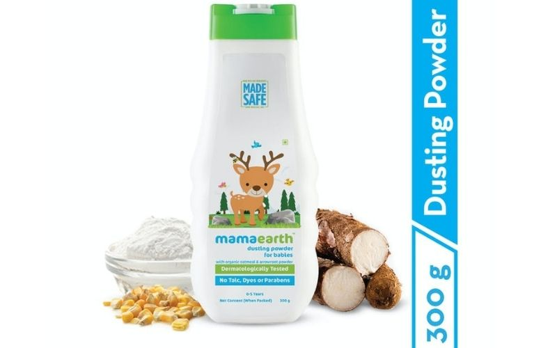MAMAEARTH DUSTING POWDER WITH ORGANIC OATMEAL & ARROWROOT POWDER FOR BABIES