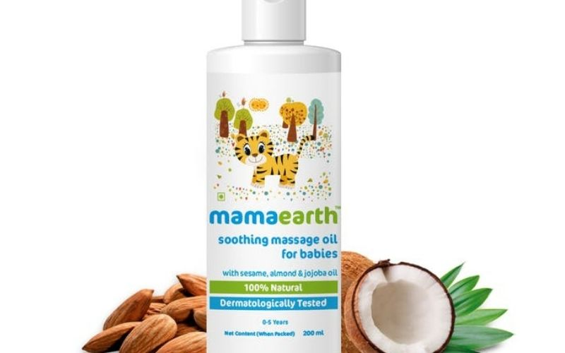 MAMAEARTH SOOTHING MASSAGE OIL FOR BABIES WITH SESAME, ALMOND & JOJOBA Oil