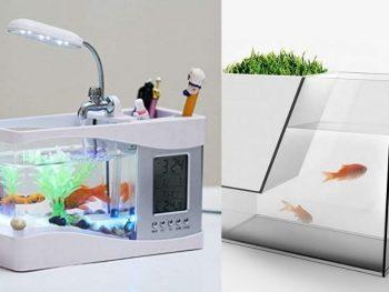 Best USB Desktop Mini Aquarium Table Organiser With Review