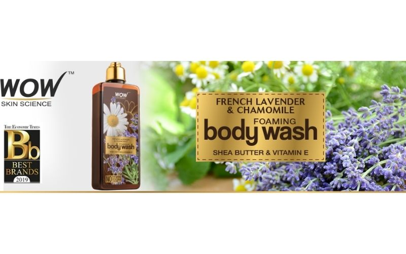 WOW SKIN SCIENCE FRENCH LAVENDER AND CHAMOMILE FOAMING BODY WASH