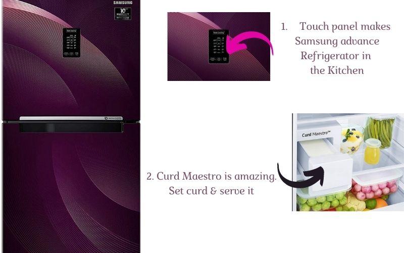 Samsung refrigerator convertible & curd maestro